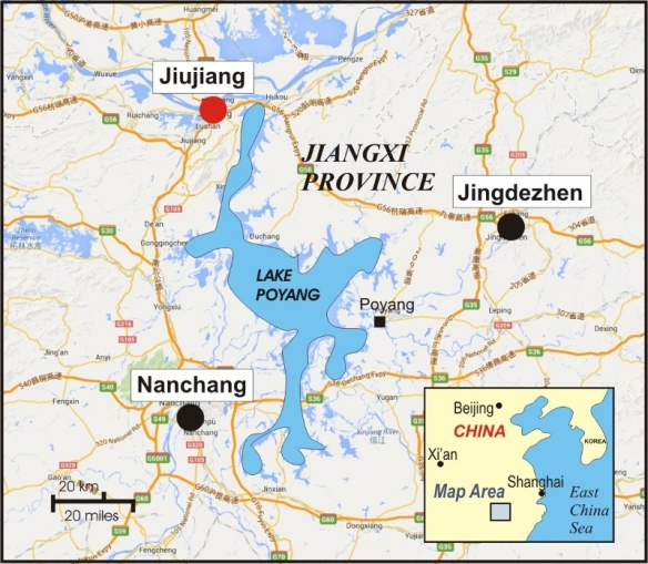 JIUJIANG PORCELAIN COMPANIES IN THE CHINESE REPUBLIC ERA 九江瓷 - Jingdezhen map